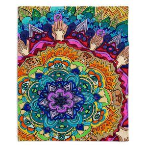 Artistic Sherpa Pile Blankets | Rachel Brown Microcosm Mandala