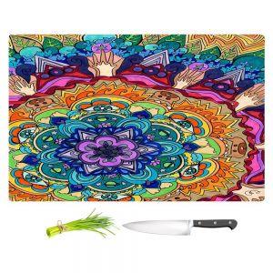 Artistic Kitchen Bar Cutting Boards | Rachel Brown - Microcosm Mandala