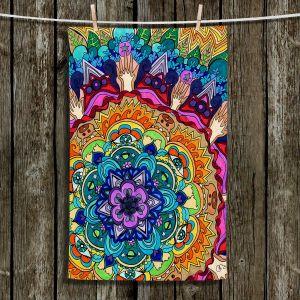 Unique Hanging Tea Towels | Rachel Brown - Microcosm Mandala | Abstract Mandala
