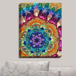 Decorative Canvas Wall Art | Rachel Brown - Microcosm Mandala