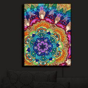 Nightlight Sconce Canvas Light | Rachel Brown's Microcosm Mandala