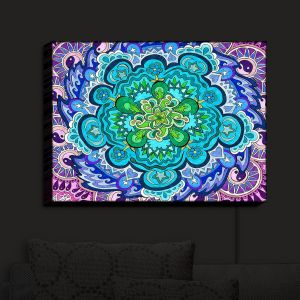Nightlight Sconce Canvas Light | Rachel Brown's Myst Mandala