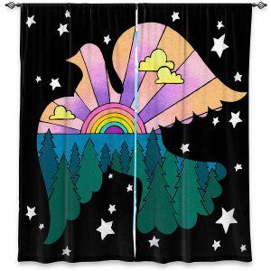 Decorative Window Treatments | Rachel Brown - Peace On Earth | Rainbow Dove Bird