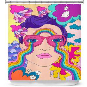Premium Shower Curtains | Rachel Brown - Pineapple Express