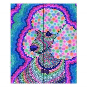 Decorative Wood Plank Wall Art   Rachel Brown - Poodle Princess   Animals Dogs