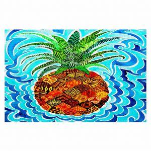 Decorative Floor Coverings | Rachel Brown Psychedelic Pineapple