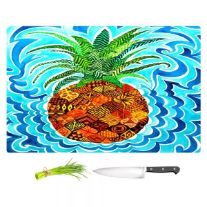 Artistic Kitchen Bar Cutting Boards | Rachel Brown - Psychedelic Pineapple