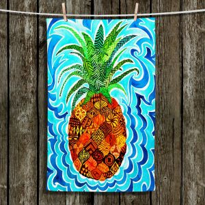 Unique Hanging Tea Towels | Rachel Brown - Psychedelic Pineapple | Patterns Fruit