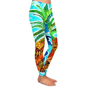Casual Comfortable Leggings | Rachel Brown Psychedelic Pineapple