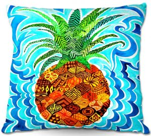 Throw Pillows Decorative Artistic | Rachel Brown's Psychedelic Pineapple