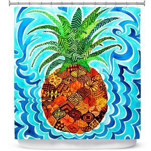 Premium Shower Curtains | Rachel Brown Psychedelic Pineapple
