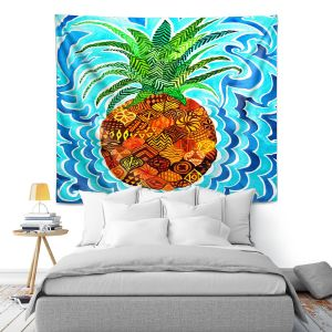 Artistic Wall Tapestry | Rachel Brown Psychedelic Pineapple