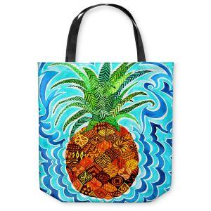 Unique Shoulder Bag Tote Bags | Rachel Brown Psychedelic Pineapple