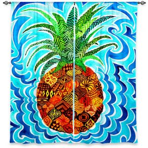 Decorative Window Treatments | Rachel Brown Psychedelic Pineapple