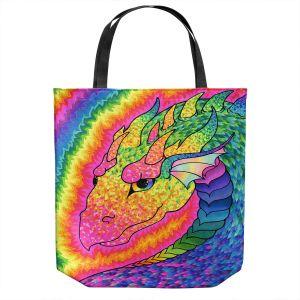 Unique Shoulder Bag Tote Bags | Rachel Brown - Rainbow Dragon | Fantasy Dragons