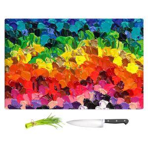 Artistic Kitchen Bar Cutting Boards | Rachel Brown - Rainbow Squish | Abstract