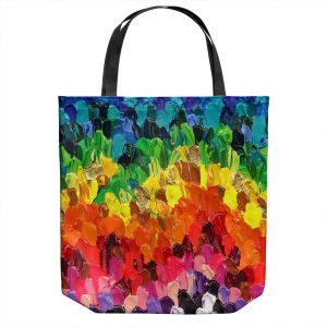 Unique Shoulder Bag Tote Bags   Rachel Brown - Rainbow Squish   Abstract