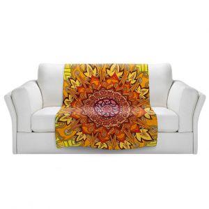 Artistic Sherpa Pile Blankets | Rachel Brown - Revelation Mandala
