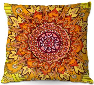 Throw Pillows Decorative Artistic | Rachel Brown - Revelation Mandala