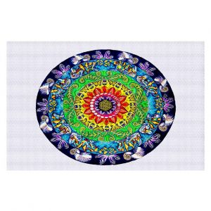 Decorative Area Rug 4 x 6 Ft from DiaNoche Designs by Rachel Brown - Samsara Mandala