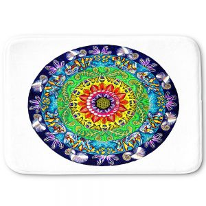 Decorative Bathroom Mats | Rachel Brown - Samsara Mandala