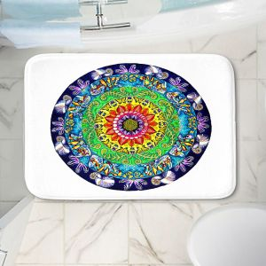 Decorative Bathroom Mats | Rachel Brown - Samsara Mandala