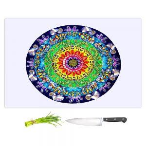 Artistic Kitchen Bar Cutting Boards | Rachel Brown - Samsara Mandala