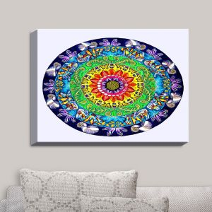 Decorative Canvas Wall Art | Rachel Brown - Samsara Mandala