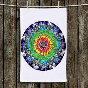Unique Hanging Tea Towels | Rachel Brown - Samsara Mandala | Stylized Funky Colorful