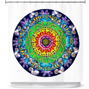 Premium Shower Curtains | Rachel Brown Samsara Mandala