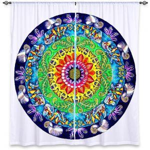 Decorative Window Treatments | Rachel Brown Samsara Mandala