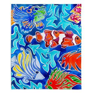 Decorative Fleece Throw Blankets | Rachel Brown - Snorkeling