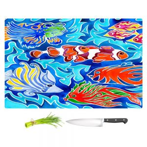 Artistic Kitchen Bar Cutting Boards | Rachel Brown - Snorkeling