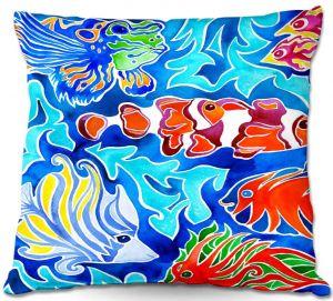 Decorative Outdoor Patio Pillow Cushion | Rachel Brown - Snorkeling