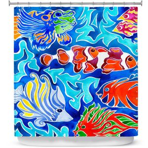 Premium Shower Curtains | Rachel Brown Snorkeling
