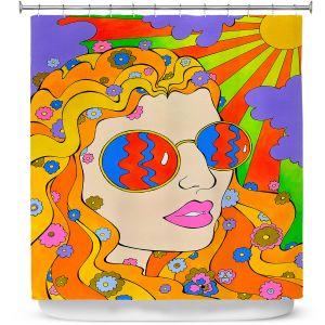 Premium Shower Curtains | Rachel Brown - Sunshine Daydream 2