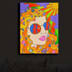 Nightlight Sconce Canvas Light   Rachel Brown - Sunshine Daydream 2   psychedelic Rainbow