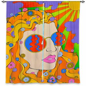 Decorative Window Treatments | Rachel Brown - Sunshine Daydream 2 | psychedelic Rainbow