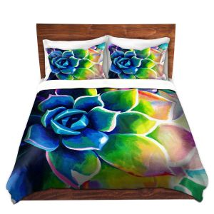 Artistic Duvet Covers and Shams Bedding | Rachel Brown - Supplication Succulent