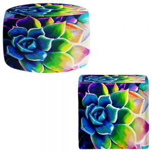 Round and Square Ottoman Foot Stools | Rachel Brown - Supplication Succulent