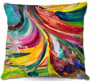 Unique Throw Pillows from DiaNoche Designs by Rachel Brown - Synesthesia | Throw Pillow 18X18
