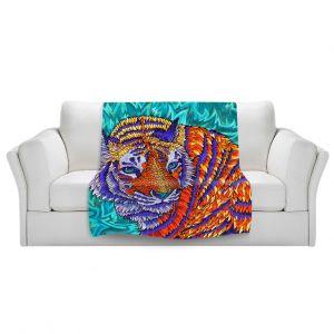 Artistic Sherpa Pile Blankets   Rachel Brown Telenergetic Tiger