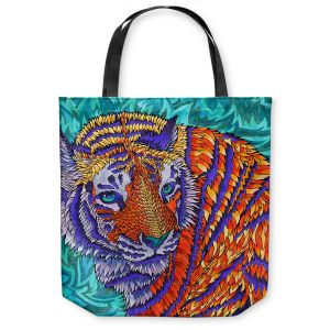 Unique Shoulder Bag Tote Bags | Rachel Brown Telenergetic Tiger