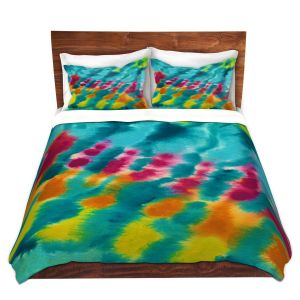 Artistic Duvet Covers and Shams Bedding | Rachel Brown - Tie Dye Trance | Abstract Pattern