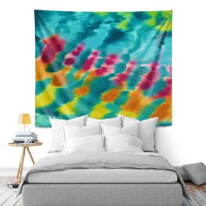 Artistic Wall Tapestry | Rachel Brown - Tie Dye Trance | Abstract Pattern