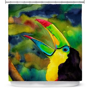 Unique Shower Curtain from DiaNoche Designs by Rachel Brown - Toucan