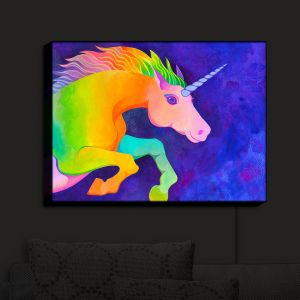 Nightlight Sconce Canvas Light | Rachel Brown - Unicorn