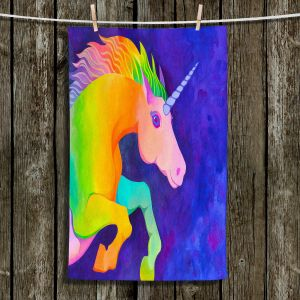 Unique Hanging Tea Towels   Rachel Brown - Unicorn   animal fantasy rainbow