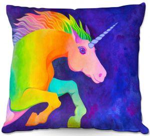 Throw Pillows Decorative Artistic | Rachel Brown - Unicorn | animal fantasy rainbow