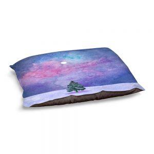 Decorative Dog Pet Beds | Rachel Brown - Winter Tree | Nature Trees Snow Christmas Holidays